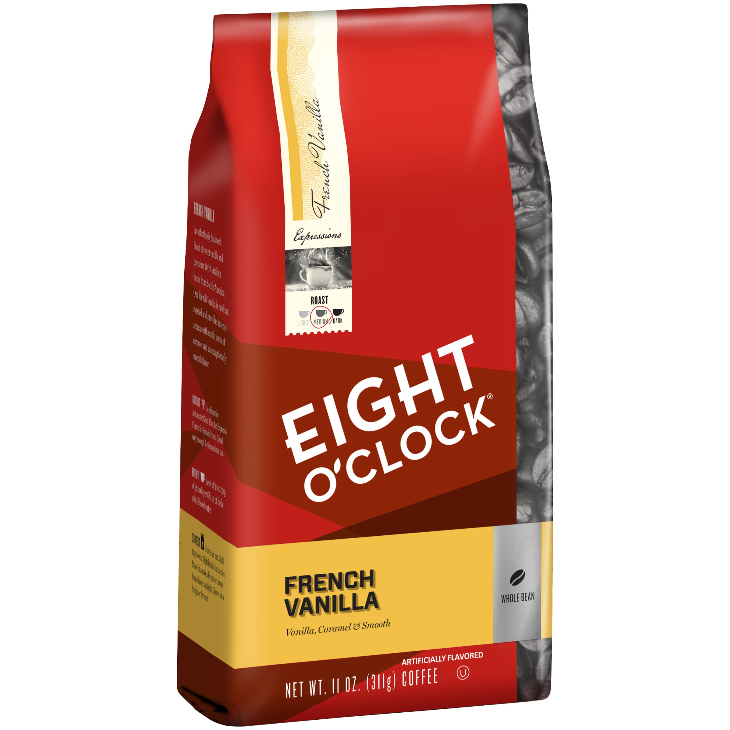 Eight O'Clock Whole Bean Coffee, French Vanilla, 11 Oz