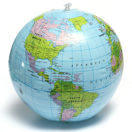 15inch Inflatable Countries Cities Earth World Globe Map Beach Ball Students Education Geography Kids Soft Toy - Beach Ball Classic