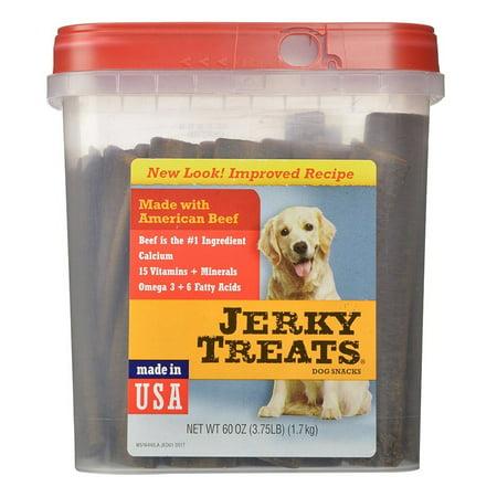 Jerky Treats Tender Beef Strips Dog Snacks, 60 oz