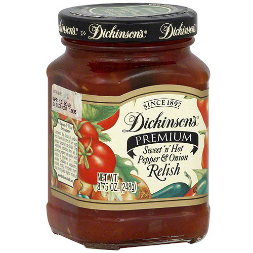 Dickinson's Sweet N Hot Pepper And Onion Relish, 8.75 oz (Pack of 6)