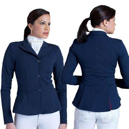 2kGrey 4410014 Ladies Equestrian Show Coat Frances, Navy - Size 14 Equestrian Show Jackets