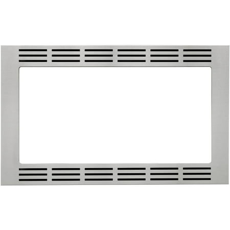 Panasonic 27 In. Wide Trim Kit for Panasonic's 1.6 Cu. Ft. Microwave Ovens - Stainless Steel Panasonic's NN-TK722SS 27 In. Wide Trim Kit, in stainless steel, is designed for select Panasonic 1.6 cu. ft. microwave ovens. This built-in trim kit allows you to neatly and securely position select Panasonic microwave ovens into a cabinet or wall space in your kitchen. Kit includes all the necessary assembly pieces and hardware to give your Panasonic microwave oven a custom-finished look.