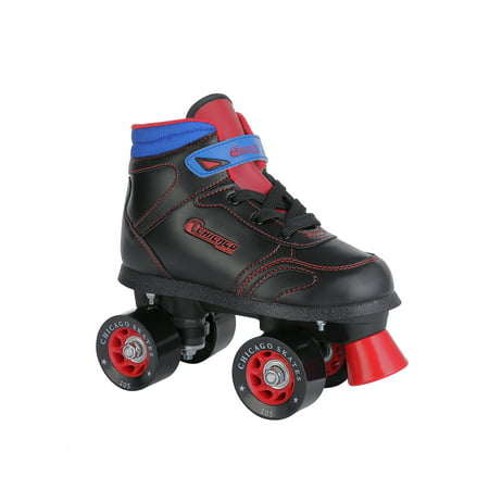 Chicago Boys' Quad Roller Skates Black/Red/Blue Sidewalk Skates, Size 1](Boys Snake)