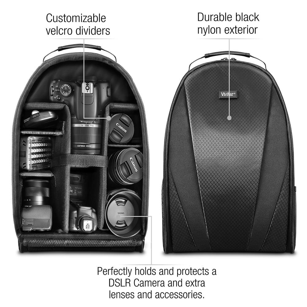 Vivitar Camera Backpack Bag for DSLR Camera, Lens and Accessories ...