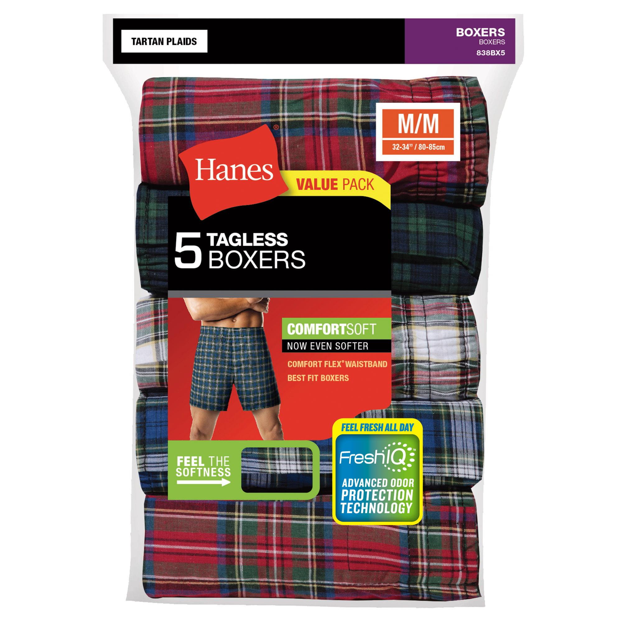 Hanes Boys 3-Pack Classics Tartan Boxers