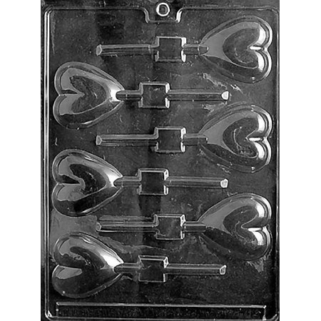 Valentines Heart Lollipop Chocolate Mold - V026 - Includes Melting & Chocolate Molding Instructions