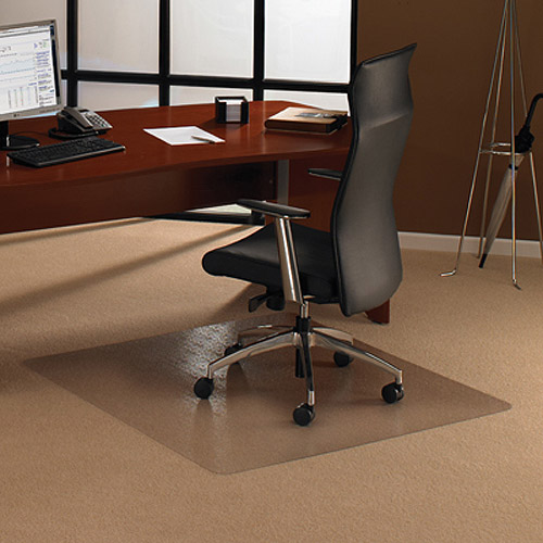 """Cleartex Ultimat Polycarbonate Square Chairmat for Low & Medium Pile Carpets up to 1/2"""" (48"""" X 48"""")"""