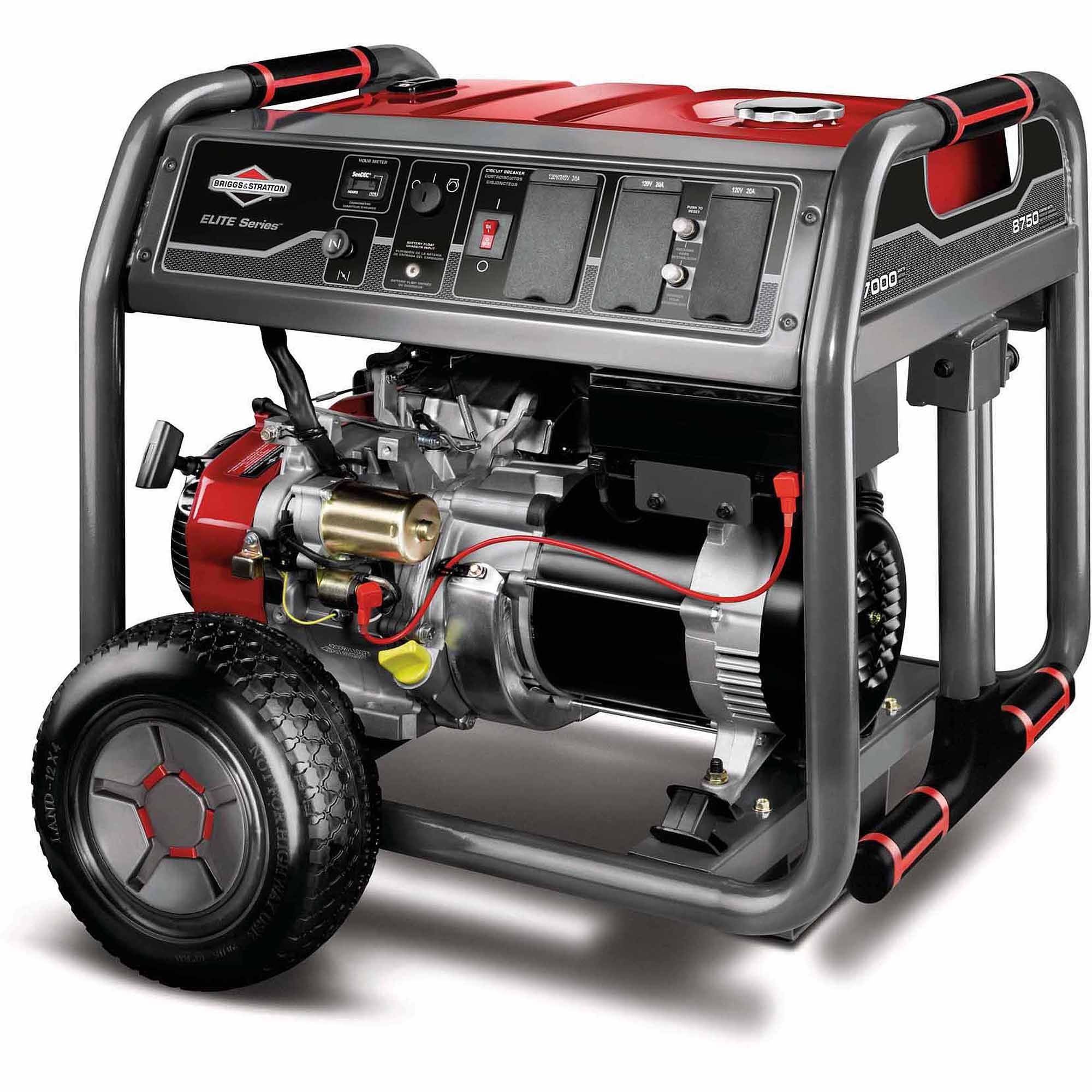 Briggs and Stratton 7000-Watt Gas Powered Portable Generator with 2100 Series 420cc Engine and Key Electric Start