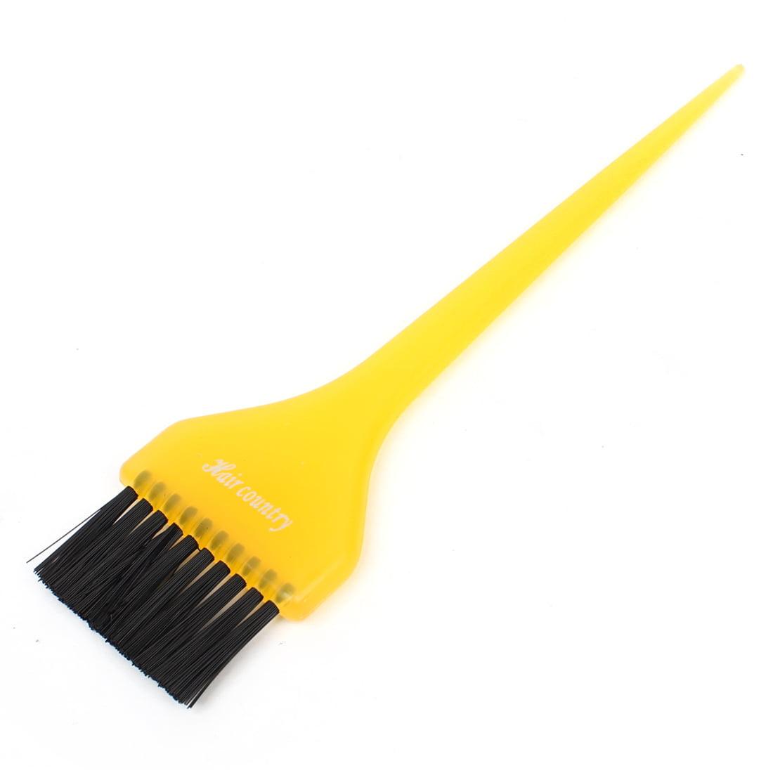 Barbershop Yellow Plastic Grip Hair Dyeing Coloring Brush 8 6 Long