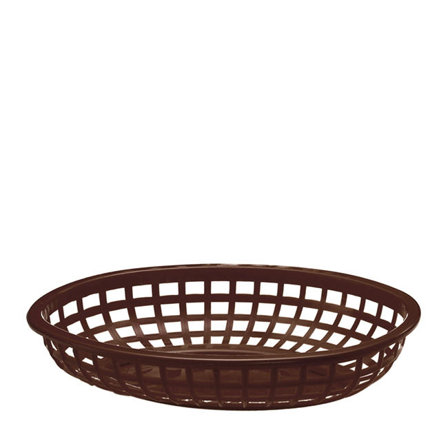 "Classic Oval Basket Brown 9 3/8"" x 6"""