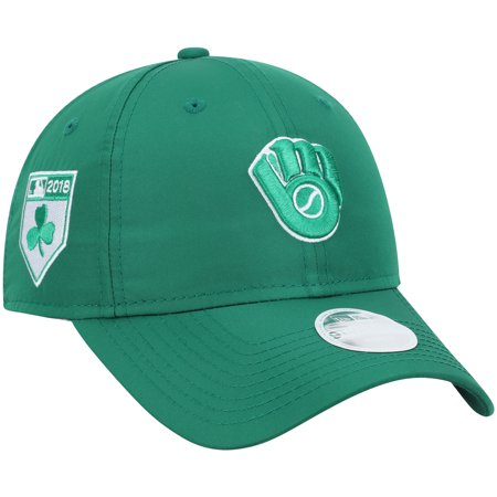 cdba6a66a6f4c Milwaukee Brewers New Era Women s St. Patrick s Day ProLight 9TWENTY  Secondary Logo Adjustable Hat - Green - OSFA - Walmart.com