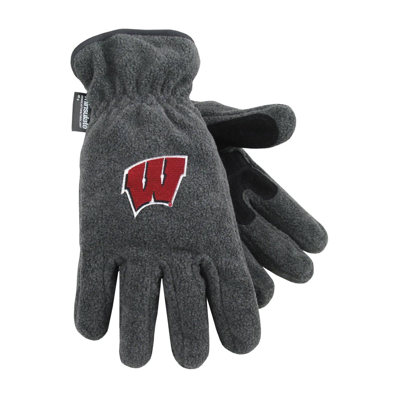 University of Wisconsin Heavy-Weight Fleece Gloves by