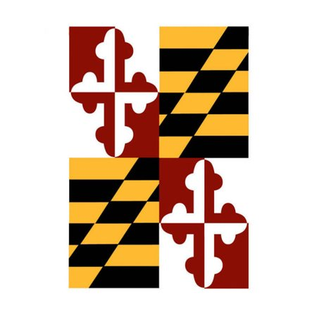 Evergreen Flag & Garden Maryland State Polyester/Nylon 1'6 x 1 ft Garden -