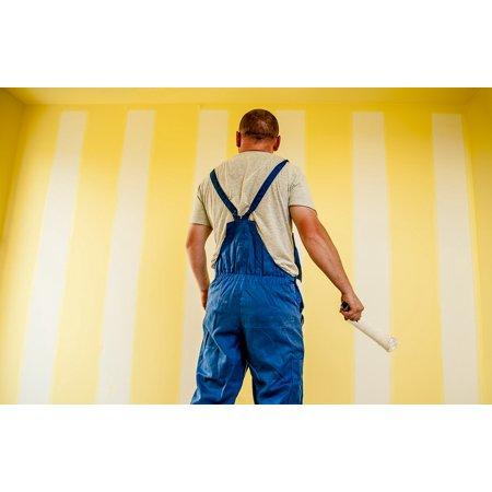 Canvas Print Painting Strips Building Painter Paint Stretched Canvas 10 x (Painters Canvas Sand)