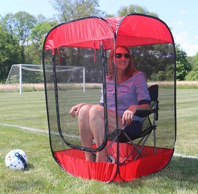 Bug Pod Insect, Bug & Mosquito Sport Pod Pop-Up Screen Chair Tent, Red by