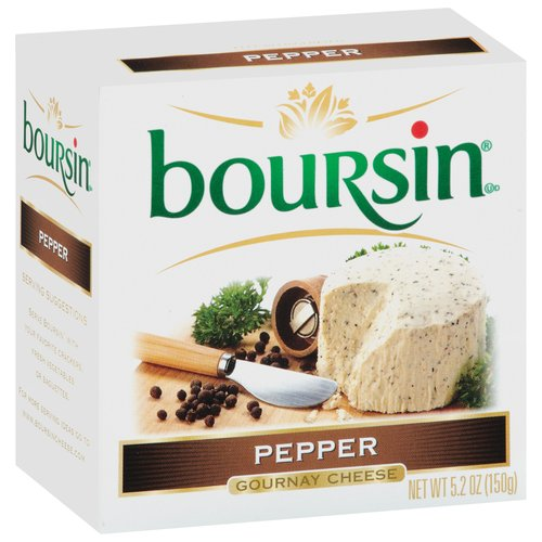 Boursin Pepper Gournay Cheese, 5.2 oz