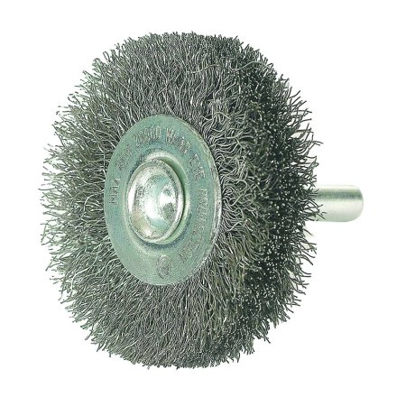 3 in. x 1/4 in. Shank Crimped Wire Wheel -