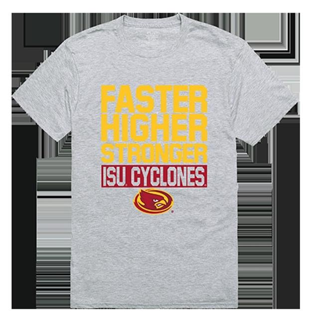 W Republic Apparel 530-125-HGY-05 Iowa State University Workout Tee Shirt - Heather Gray, 2XL - image 1 of 1