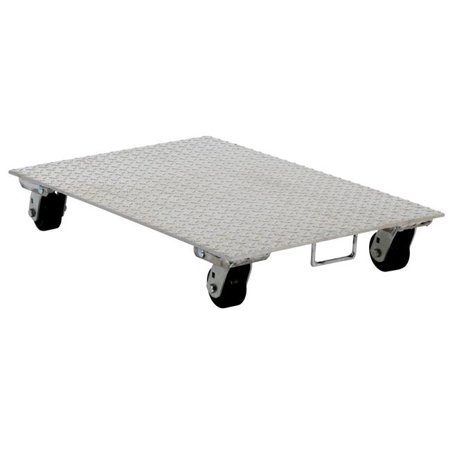 VESTIL PDA-1627-R-S-H Aluminum Plate Dolly With Rubber Wheels