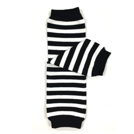Wrapables® Baby Stripes and Chevron Leg Warmers O/S Black and White -