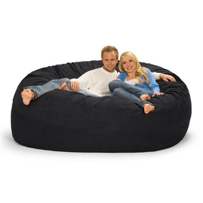 RelaxSacks 7DM-MS001 7 ft. Round Relax Sack - Microsuede Black