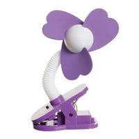 Tee-Zed Stroller Clip-On Fan, Purple