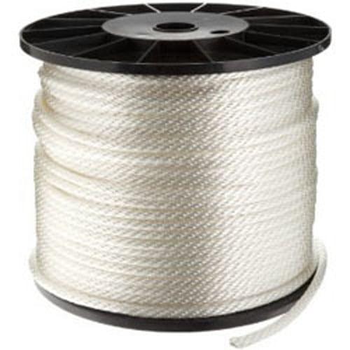 "CWC Solid Braid Nylon Rope - 5/32"" x 500 ft., White"