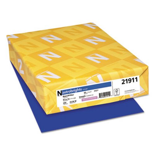 Astrobrights Colored Card Stock, 65 lb., Blast-Off Blue, 250 Sheets (WAU21911)