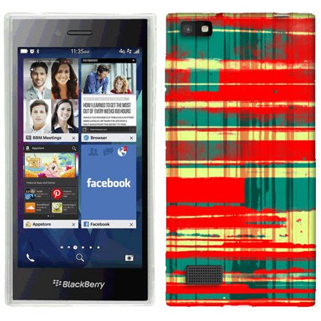 Mundaze Spray Plaid Phone Case Cover for BlackBerry Leap ()