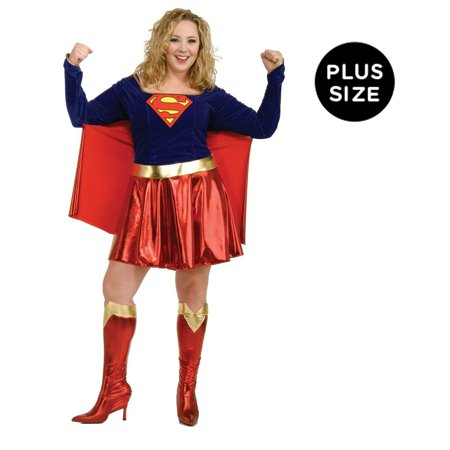 Supergirl Adult Plus Costume - Plus - Supergirl Costume Adult