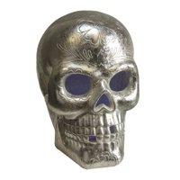 Northlight Seasonal Metallic LED Lighted Day of the Dead Skull Decorative Tabletop Figure
