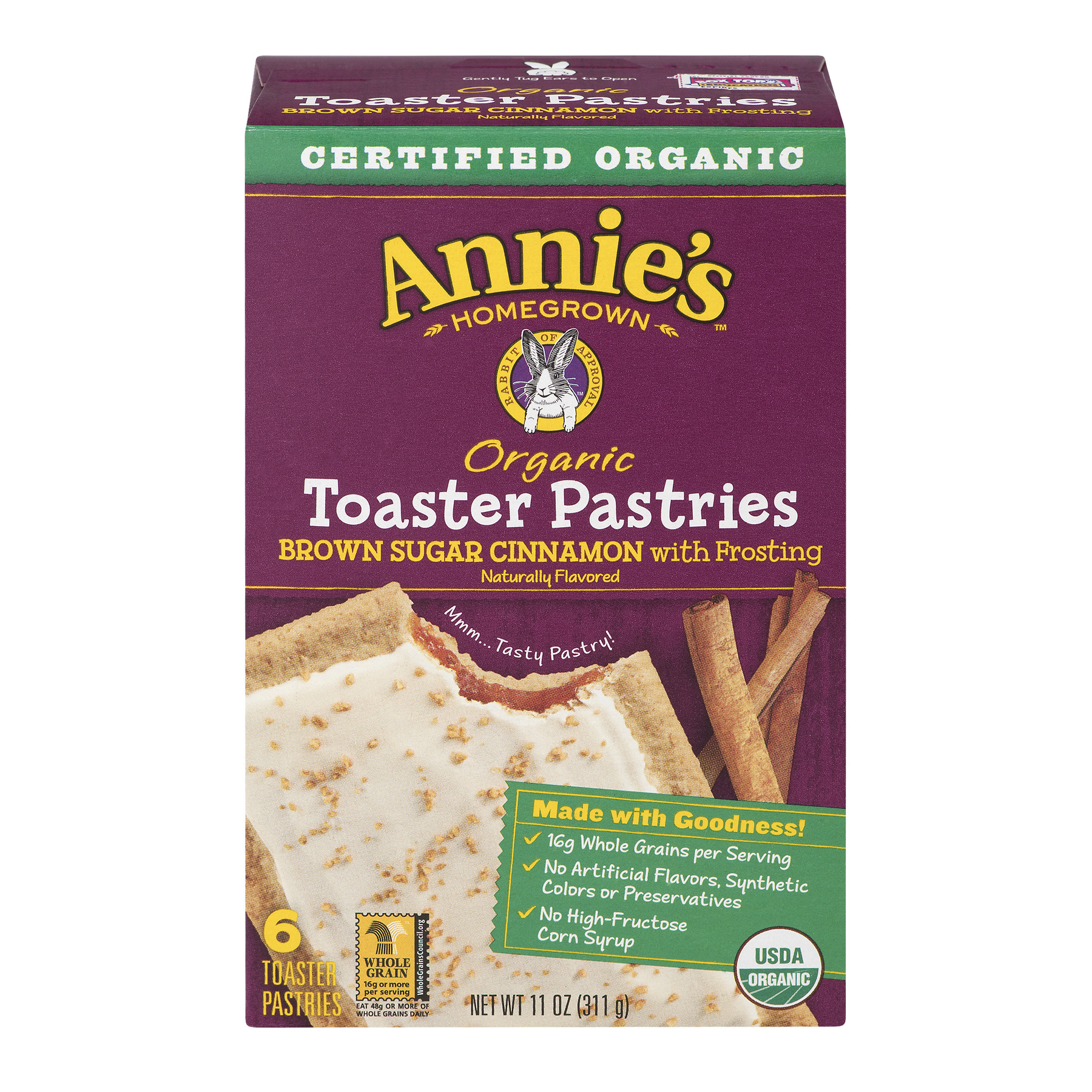 Annie's Organic Toaster Pastries Brown Sugar Cinnamon w Frosting 11 oz