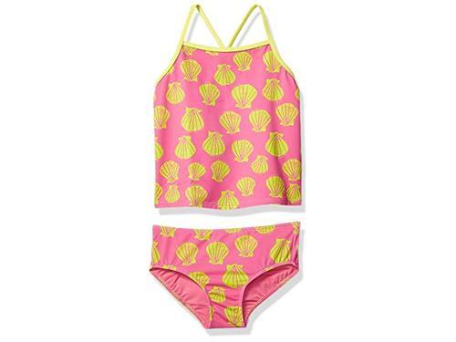 Spotted Zebra Girls Toddler /& Kids 3-Piece Swim Set with Rashguard and Tankini Brand