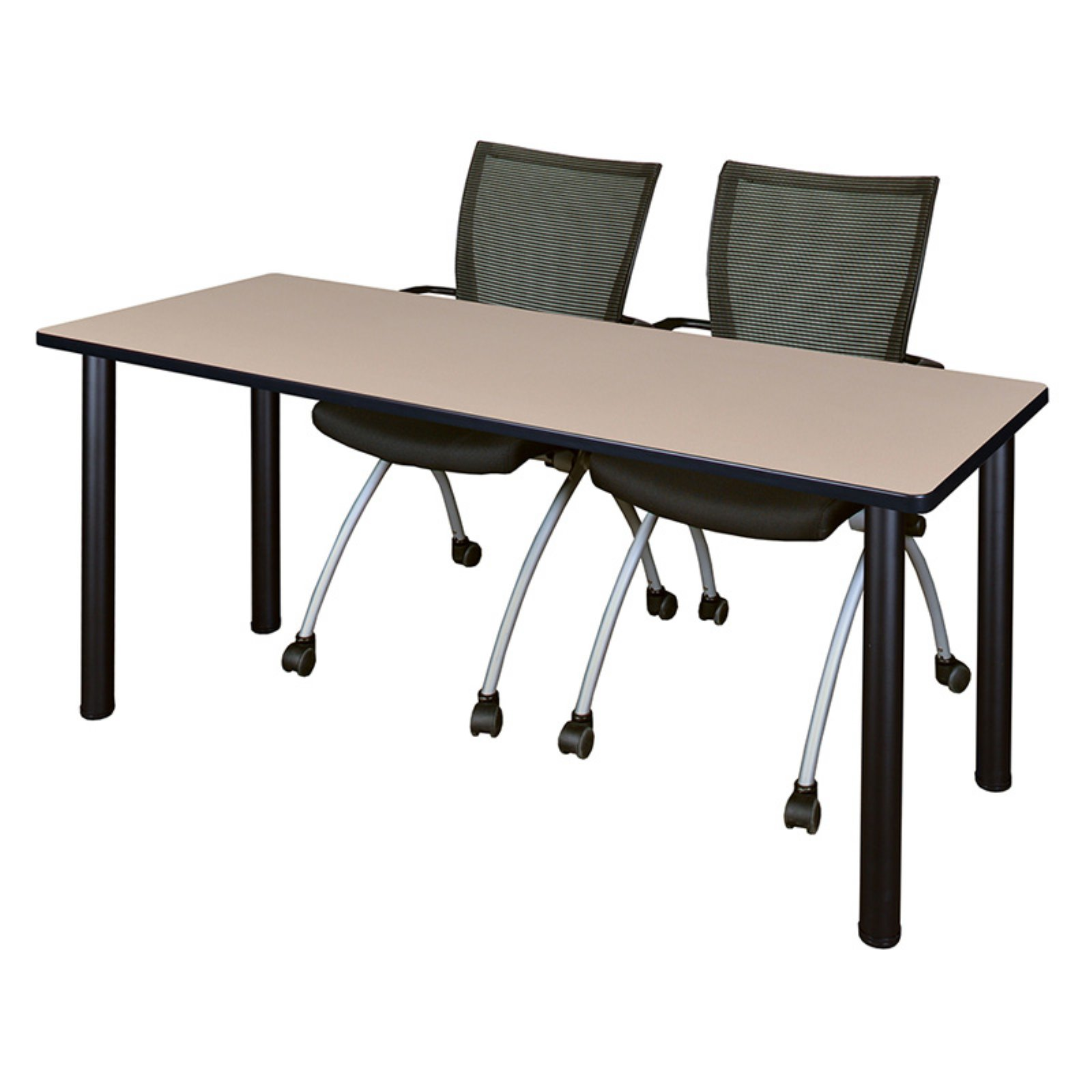"Regency Kee 66"" x 24"" Training Table, Multiple Colors and 2 Apprentice Chairs, Multiple Colors"