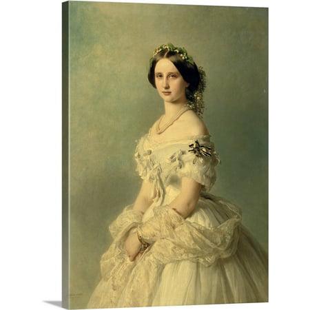 Great BIG Canvas | Franz Xaver Winterhalter Premium Thick-Wrap Canvas entitled Portrait of Princess of Baden, 1856
