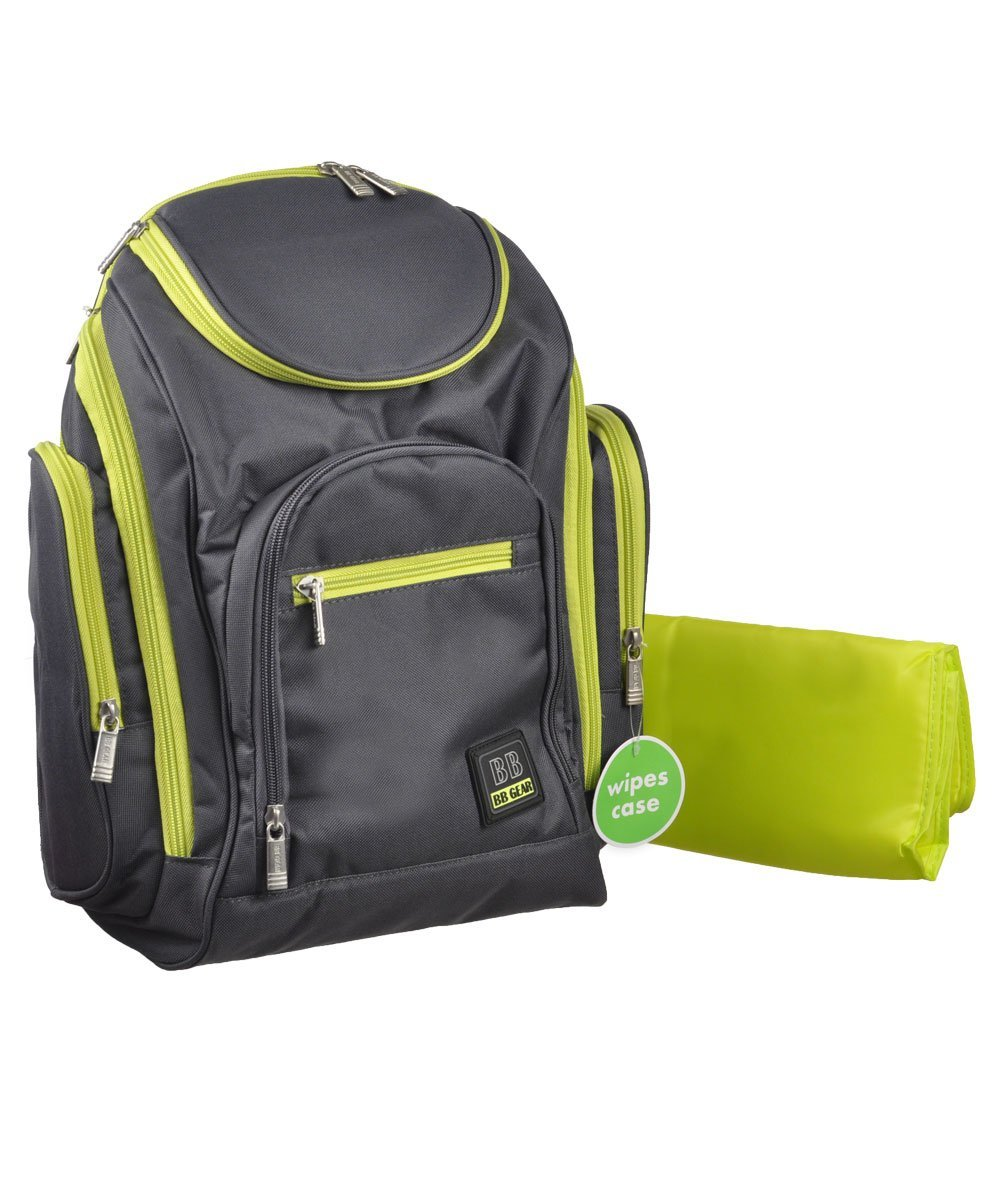 """Babyboom """"All Day"""" Diaper Backpack gray sage, one sizeEasy access wipe case, wipes case included;... by Baby Boom"""