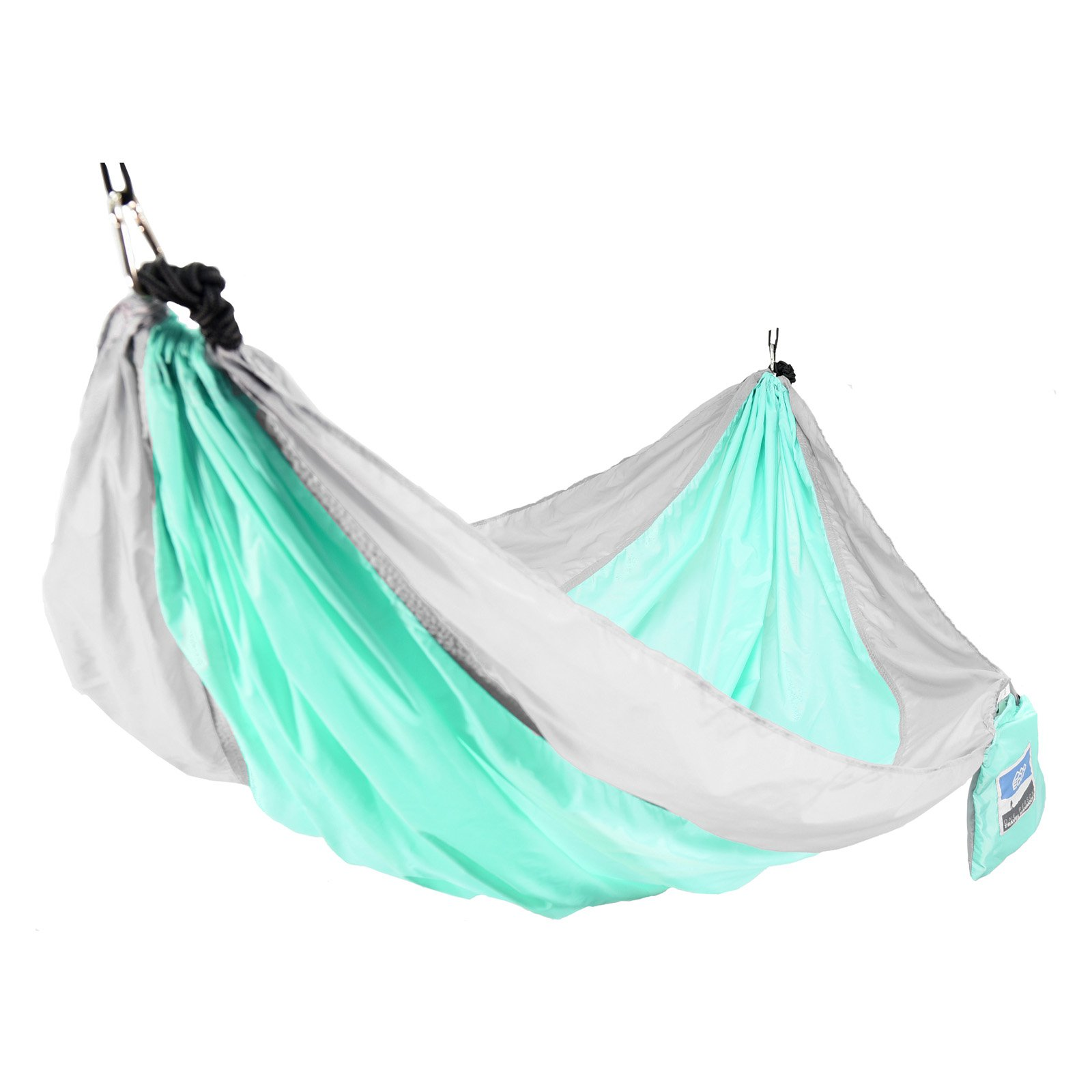 Equip 1-Person Durable Nylon Portable Hammock for Camping, Hiking, Backpacking, Travel, Includes Hanging Kit, Grey Mint by Denovo