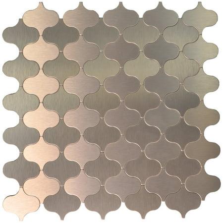 (Art3d Self-adhesive Tile Kitchen Backsplash Aluminium Mosaic, 12