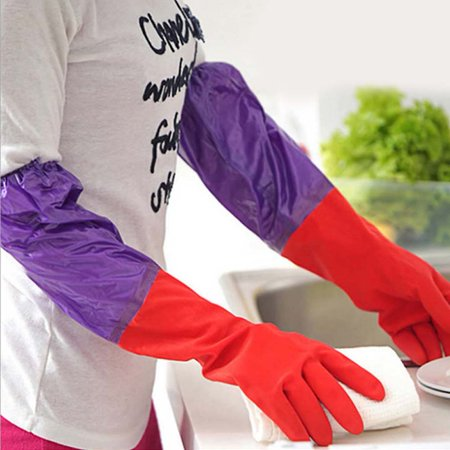 KABOER Extra  Long Washing Gloves Cleanning Quality Warm Waterproof Rubber Gloves