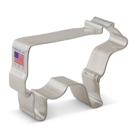 Cow Cookie Cutter - Cow Cookie Cutter - 3.75 Inches - Ann Clark -Tin Plated Steel