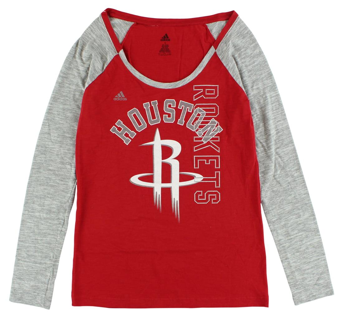Adidas Womens Houston Rockets Team Liquid Shirt Red