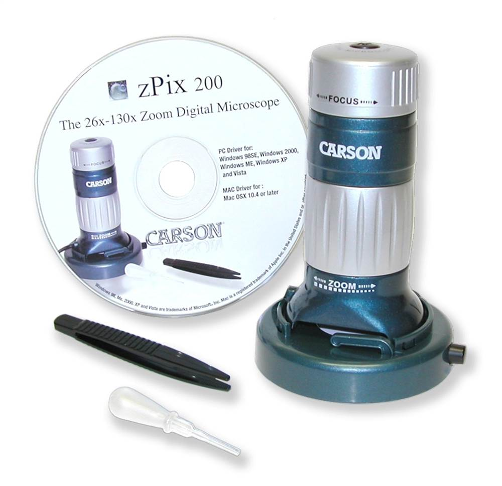 zPix 200 USB Digital Microscope with 26x-130x Optical Zoom