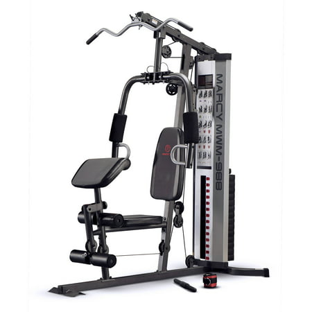 Marcy Pro MWM-988 Home Gym System 150 Pound Adjustable Weight Stack