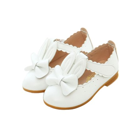 DYMADE Girls Baby Rabbit Ears Bowknot Casual Sneakers Cute Shoes