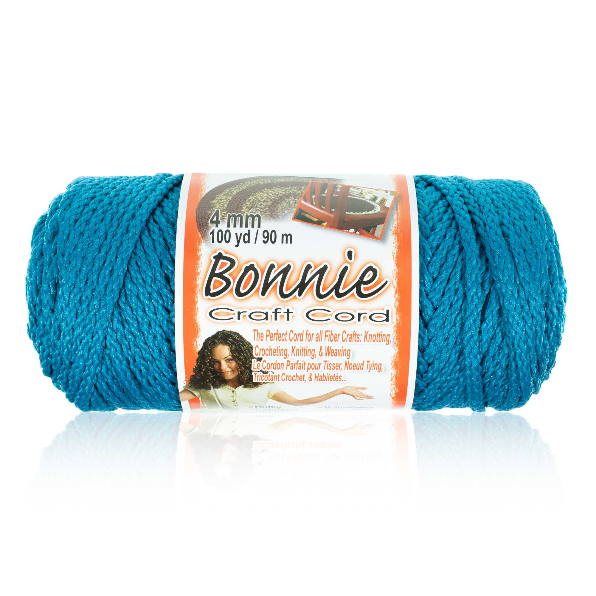 Craft County - 4MM Bonnie Cord - 100 Yards - Wide Variety Color Selection - Macrame Cord