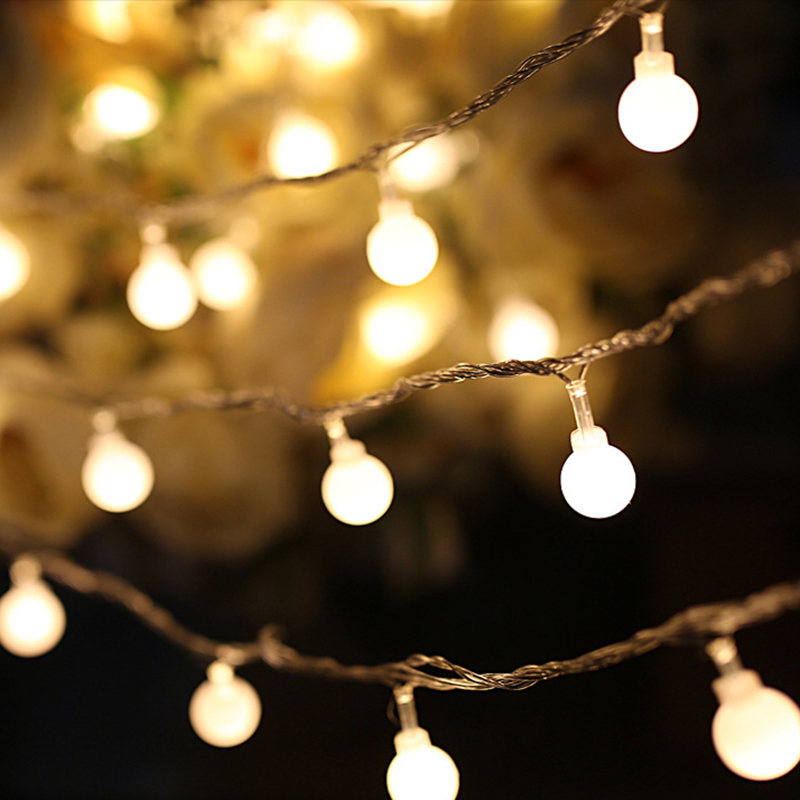 2M 10LED Warm White String Fairy Lights Party Christmas Decor Outdoor Indoor