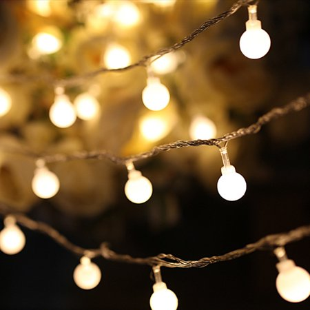 Led String Lights Warm White Ball Fairy Waterproof Decorative Starry For Bedroom Patio Parties Battery Ed