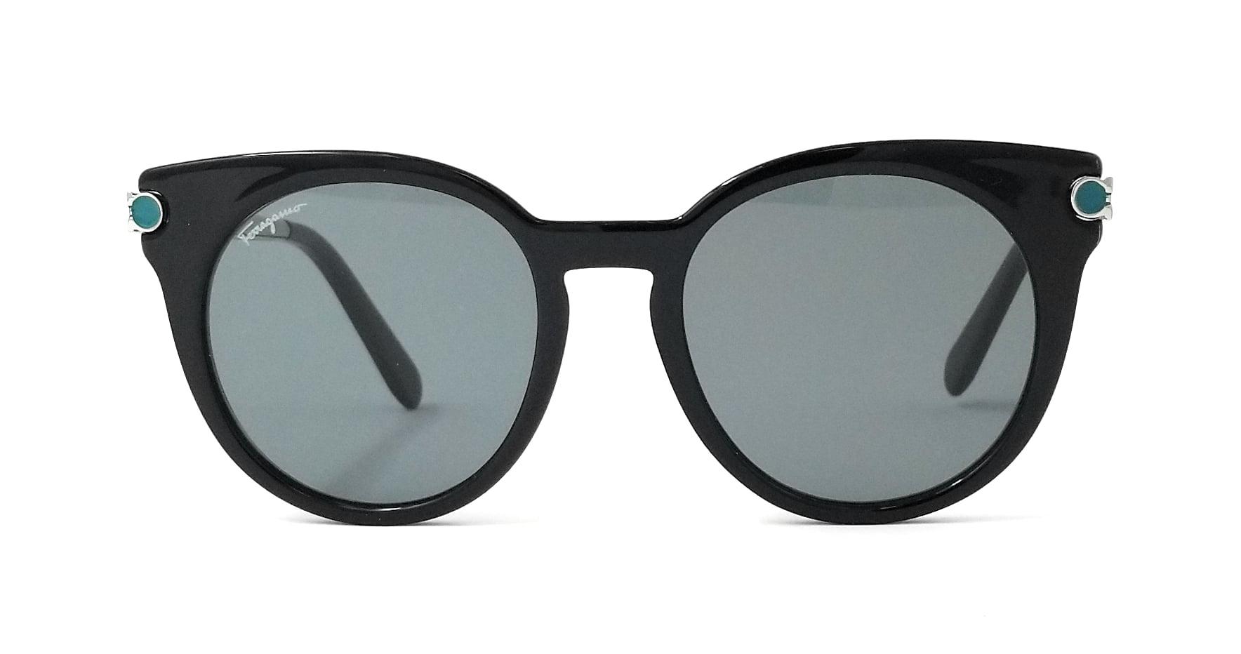 4172ccd20c Salvatore Ferragamo - Salvatore Ferragamo Sunglasses SF831S 976 Black-Silver  Round Womens 51x19x140 - Walmart.com