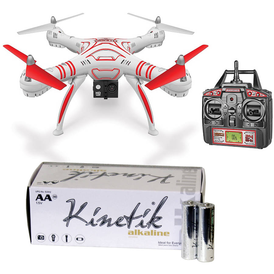 World Tech Elite 33745 4.5-Channel Wraith Spy Drone and Kinetik AA Battery Kit, 50 Pack by World Tech Elite