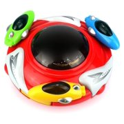 Magic UFO Battery Operated Kid's Bump and Go Toy Saucer Car w/ Fun Flashing Lights, Sounds